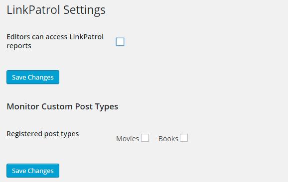 linkpatrol-settings